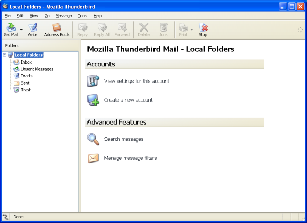 how to add an email account in thunderbird